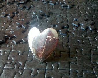 big-ish silver heart ring