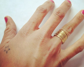 21 thin stacking brass rings