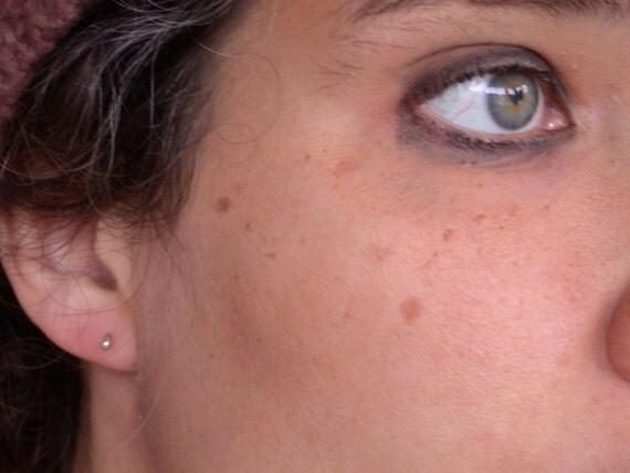tiny dot earrings sterling silver