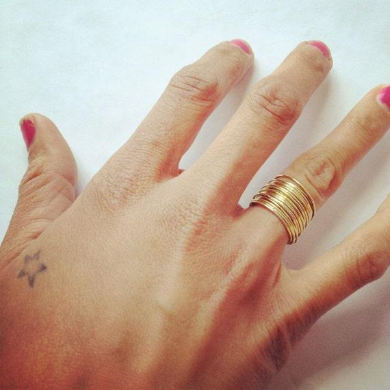 21 thin stacking brass rings