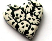 Lot O' Skulls Handmade Polymer Clay Button