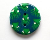 When Octopus Attack Giant Polymer Clay Button