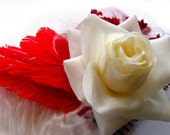 Snow White and Rose Red Handmade Fascinator