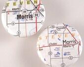 Morris Map Pinback Buttons
