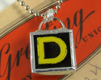 Letter D Initial Pendant Necklace