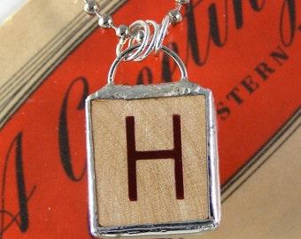 Letter H Pendant Necklace