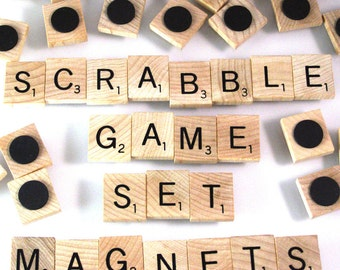 Scrabble Magnets - Complete game set of 100