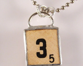 Russian Scrabble Letter Pendant Necklace