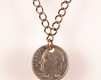 Custom Dime Necklace - Choose your year