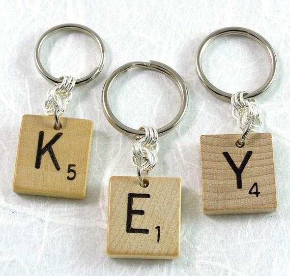 Scrabble Keychain - Choose your letter