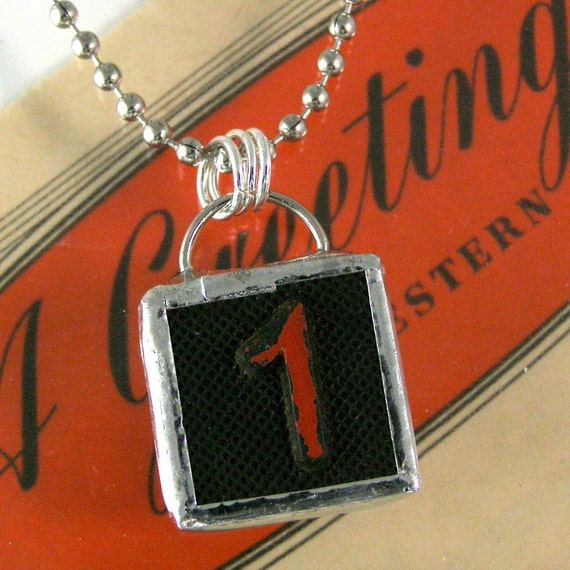 Number 1 Pendant Necklace