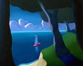 Along the Coast - Original Oil Painting