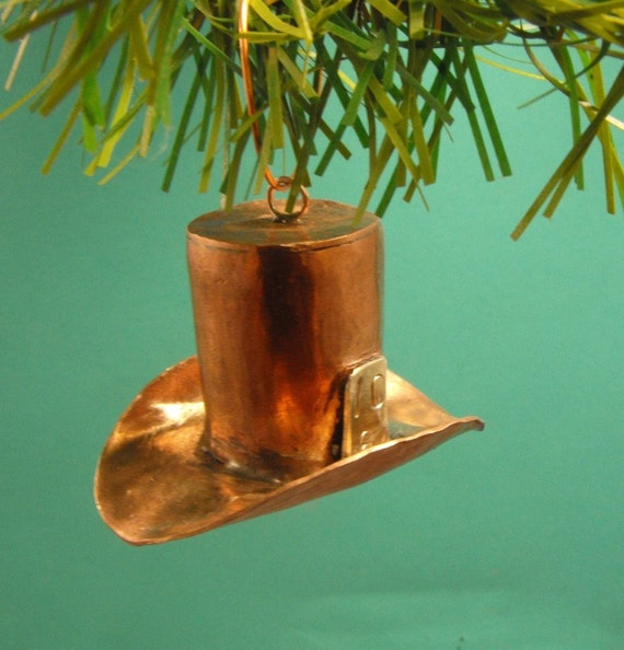 Mad hatter copper ornament