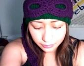 Teenage Mutant Ninja Turtles Convertible Beanie (Knit & Crochet Combo)