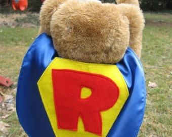 Childrens Personalized Capes Custom Superhero Cape for Baby Teddy or Doll