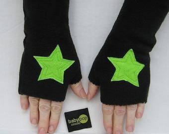 Kids Fingerless Superhero  Star Gloves cuff