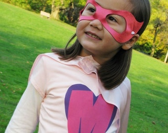 Personalized Custom Superhero Costume Princess Pack Cape Tee Mask and Gloves Halloween