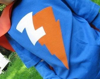 Kid Children Custom Tee Shirt w/Initial Superhero Princess with your childs intial
