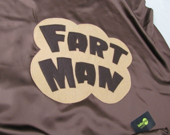 Made for Mr. Stinky....Adult FARTMAN SuperHero Cape  party favors