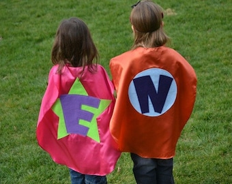 2 Superhero Capes Costume Kids Capes Custom cape Personalized