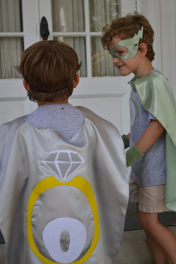 Ring Bearer Gift  Cape Set Cape Gloves Mask and Tee Ringbearers Gift Ideas