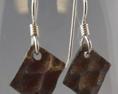 Bronze Earrings with Sterling Silver Earwires (E-00870)
