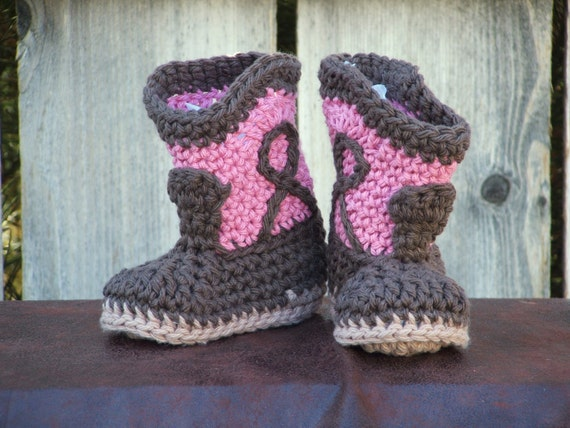 Chocolate Rose Cowgirl Booties for little cowgirls, size Small (6 month)