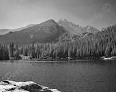 Mountain Lake with Colorado Rockies as Backdrop (Free Shipping)