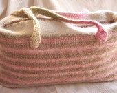 FELTED Work and Play KNIT Tote Bag pattern - SUPER EASY