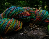 Bulky Thick and Thin Handspun Merino Yarn - Rainbow Bright