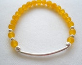 Lemon Zest Yellow Beaded Bracelet