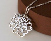 Chrysanthemum Necklace - Sterling Silver