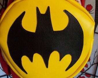 Batman inspired purse/hip bag/messenger