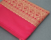 Hot Pink Sari Pouch