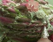 Handspun Yarn Flower Garden