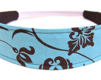 Reversible Fabric  Headband  -  TIFFANY BLUE   Headbands for Women