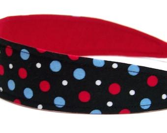 Reversible Fabric Headband  -  AMERICANA   Headbands for Women