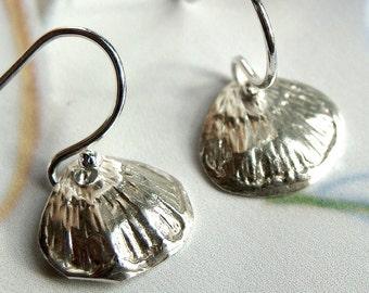 Sterling Petal Drop Earrings Tiny Petals Sterling Silver Dangle Earrings