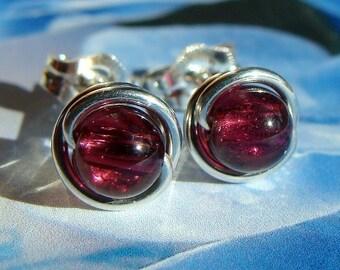 Garnet Studs 5mm Garnet Earrings Garnet Studs Sterling Silver Earrings Post Earrings Stud Earrings Birthstone Studs