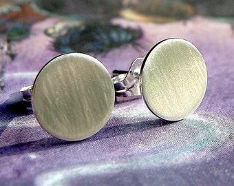 Flat Studs Flat Disc Earrings 8mm Sterling Silver Post Earrings Stud Earrings Studs Metal Earrings