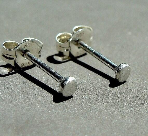 Nano Mini Post Sterling Silver Earrings 2-2.5mm Stud Earrings Eco Friendly Studs