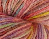 Mountain Sunset Handpainted Superwash Merino Worsted weight Yarn - 4 oz (113 grams)