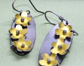 Flower Garden Earrings (copper and yellow)
