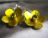 Little Flower Hair Clips (yellow)