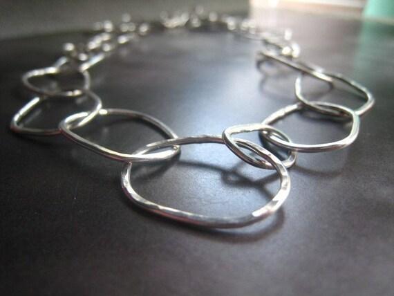 Disheveled Hoop Necklace (sterling)