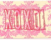 XOXO Unmounted Rubber Stamp aLtEReD aRt collage scrapbooks