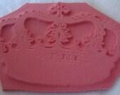 Unmounted Cross Crown Rubber Stamp scrapbook