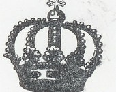 Unmounted Ball Crown rubber stamp zNe