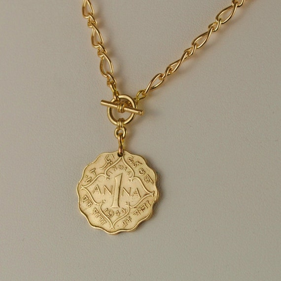 British India Coin Necklace 1944