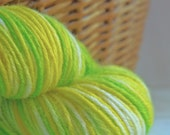 PURE NEW WOOL Handpainted DK Double Knitting Yarn  Daisy Chain  Colorway by Lakshmi Mama